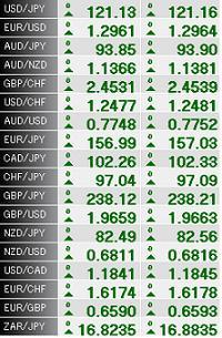 たくさんの通貨ペア
